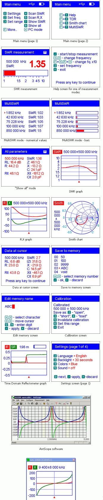 Screenshot oprogramowania do AA-1000