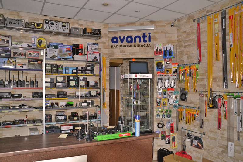 Wnętrze sklepu Avanti Radiokomunikacja